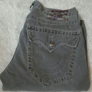 True religion grey ricky jeans